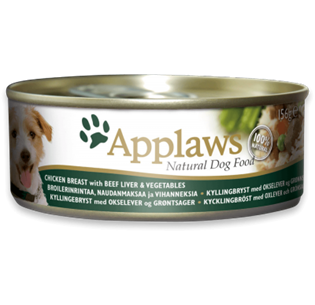 APPLAWS Dog Chicken Breast with Beef Liver and Vegetables 156GR