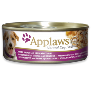 APPLAWS Dog Chicken Breast with Ham and Vegetables 156GR